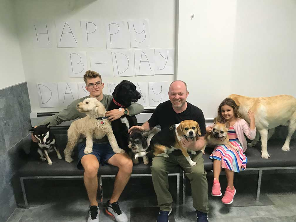 Birthday party at Doggie Day Care